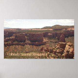 Poster cénico do monumento nacional de Colorado