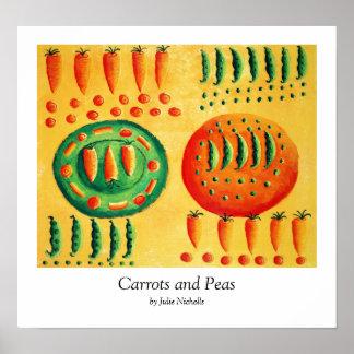 Pôster Cenouras e ervilhas