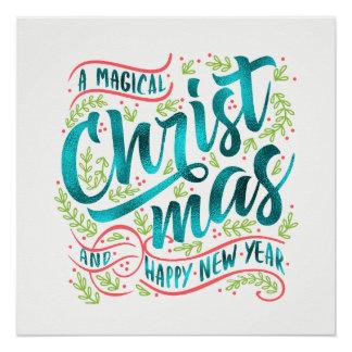 Pôster Cerceta mágica ID441 da tipografia do Natal