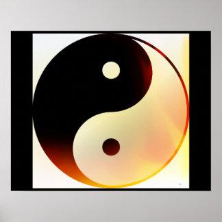Poster Chama de Yin e de Yang