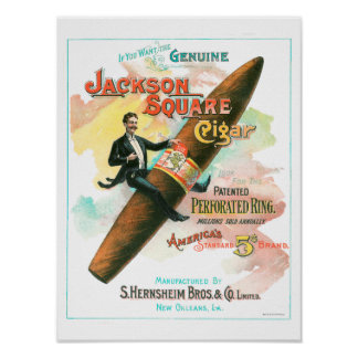 Pôster Charuto quadrado de Jackson
