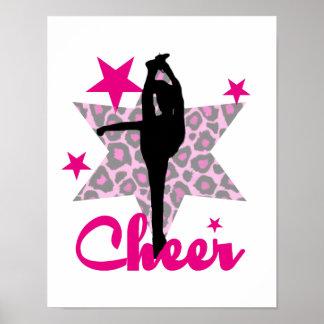 Poster Cheerleader cor-de-rosa