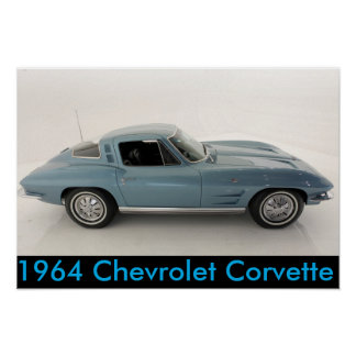 Pôster Chevrolet Corvette 1964