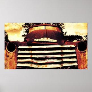 Poster Chevy velho que cultiva o caminhão