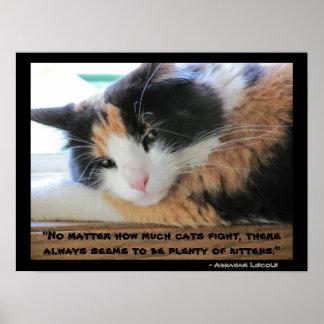 Poster Chita eyed Flirty com citações de Abraham Lincon