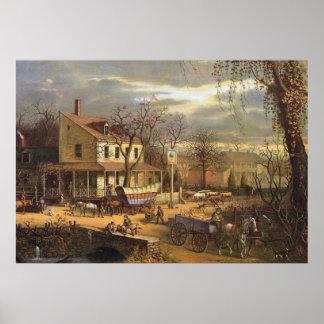 Pôster Cidade dos E.U. nos mediados do século XIX