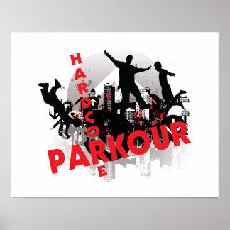 Pôster Cidade incondicional do Grunge de Parkour