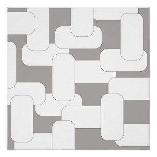 Pôster Cinza & branco ligados