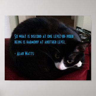 Pôster Citações 1 de Alan Watts