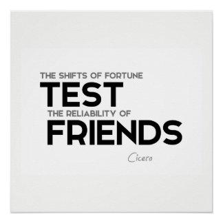 Pôster CITAÇÕES: Cicero: Confiança dos amigos