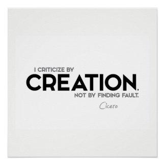 Pôster CITAÇÕES: Cicero: Critique pela criação