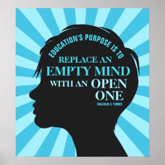 """Poster Citações da educação por Malcolm Forbes 18"""" x20 """""""