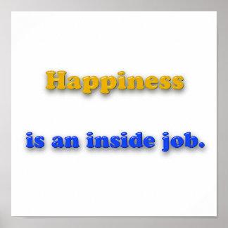 Pôster Citações da felicidade - a felicidade é um