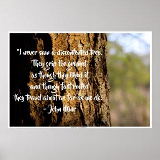 Pôster Citações de John Muir do carvalho