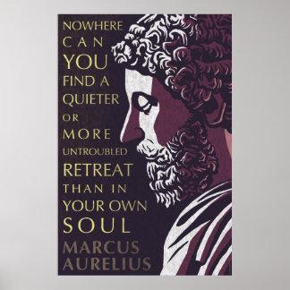 Pôster Citações de Marcus Aurelius: Um mais quieto ou