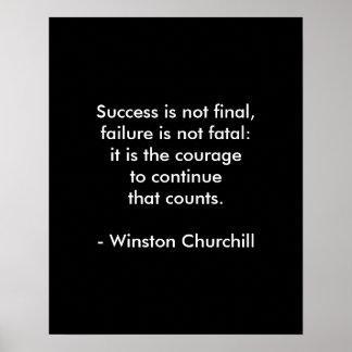 Poster Citações de Winston Churchill; Sucesso