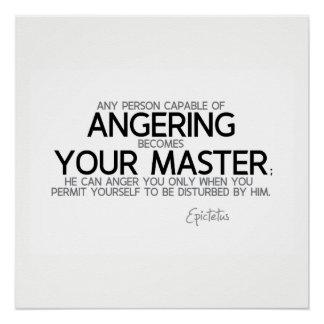 Pôster CITAÇÕES: Epictetus: Irritando o, seu mestre