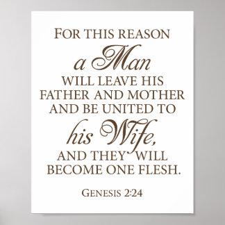 Pôster Citações escuras 8 x 10 do amor do casamento do