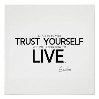 Pôster CITAÇÕES: Goethe: Confiança você mesmo