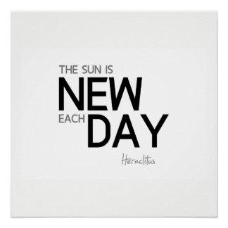 Pôster CITAÇÕES: Heraclitus: O sol é novo cada dia