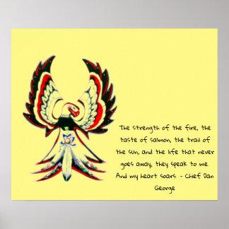 Poster Citações inspiradas de Anishinaabe Thunderbird