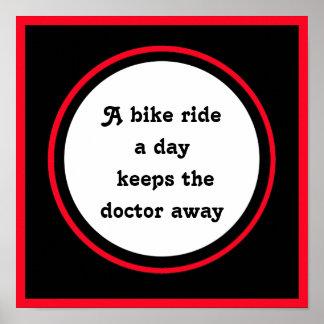 Pôster citações inspiradas para o ciclista