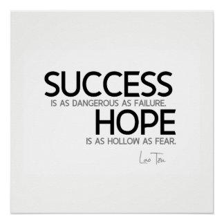 Pôster CITAÇÕES: Lao Tzu: Sucesso, esperança