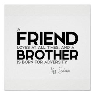 Pôster CITAÇÕES: Rei Solomon: Um amigo ama em todas as