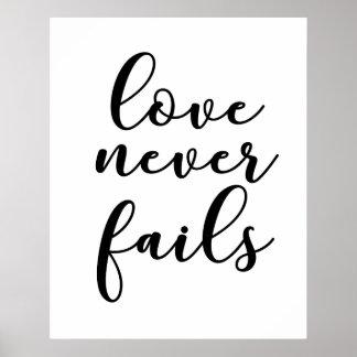 Poster Citações românticas do amor do casamento