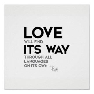 Pôster CITAÇÕES: Rumi: O amor encontra sua maneira