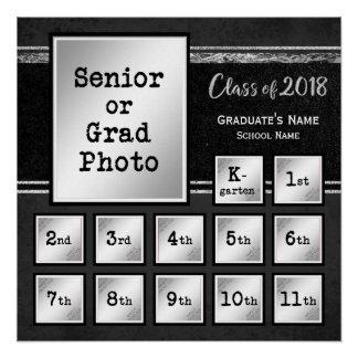 Pôster Classe da foto 2018 K-12 comemorativa