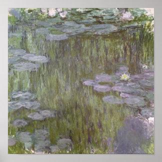 Pôster Claude Monet | Nympheas em Giverny, 1918