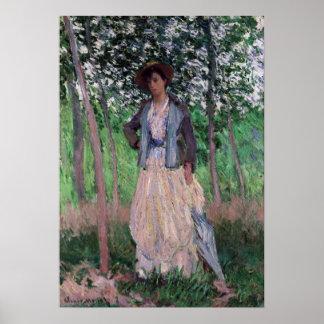 Pôster Claude Monet o carrinho de criança