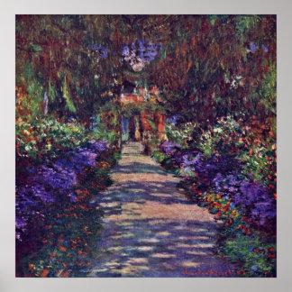 Pôster Claude Monet - trajeto do jardim