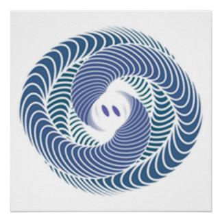 Pôster cobra azul