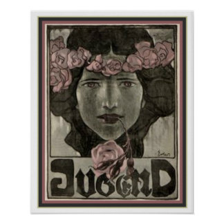 Pôster Cobrir de Nouveau da arte de Jugend por Fidus 16 x