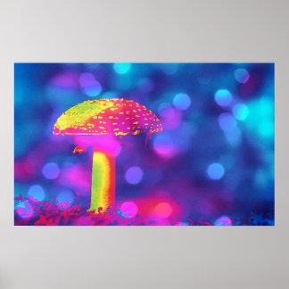 Poster Cogumelo nas luzes