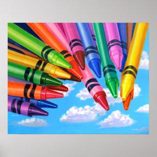 Poster Colora seu mundo - pintura