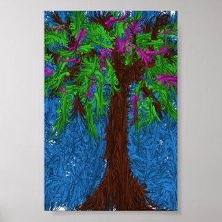 Poster colorido da árvore