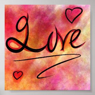 Poster colorido do amor