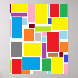 Poster colorido dos blocos A3 das impressões