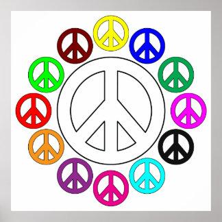 poster colorido dos sinais de paz