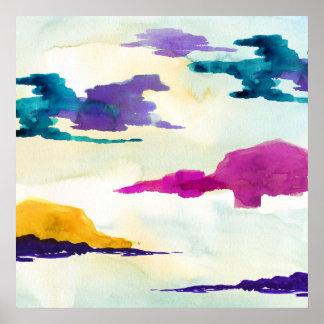 Poster colorido moderno corajoso do Watercolour de
