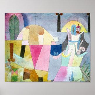 Poster Colunas pretas em uma paisagem: Paul Klee 1919