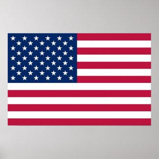Poster com a bandeira dos Estados Unidos da Améric