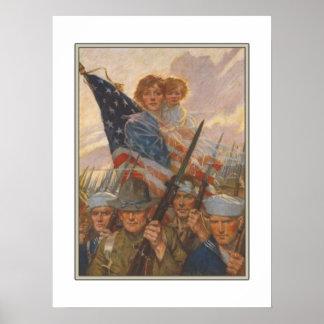 Poster com impressão americano da propaganda de WW
