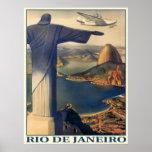Poster com impressão de Rio de Janeiro do vintage
