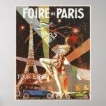 Poster com impressão do art deco de Paris dos anos