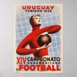 Poster com impressão do futebol de Copa de América