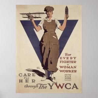 Poster com impressão do poster da propaganda de WW